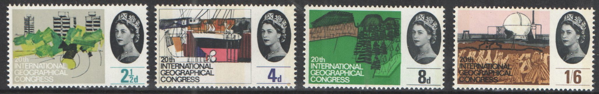 SG651p / 654p 1964 Geographical Congress (Phosphor) unmounted mint set of 4