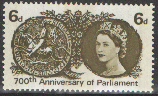 SG663p 1965 Parliament 700th Anniversary (Phosphor) unmounted mint