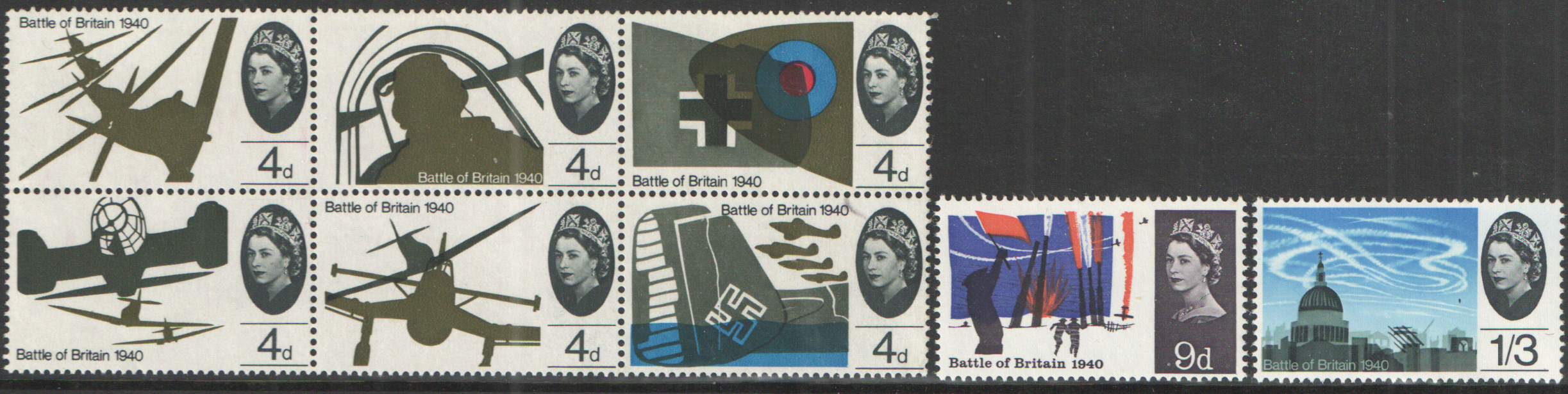 SG671 / 678 1965 Battle of Britain (Ordinary) unmounted mint set of 8