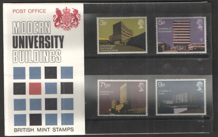 1971 Modern Universities Type A - One Tuft Royal Mail Presentation Pack 33