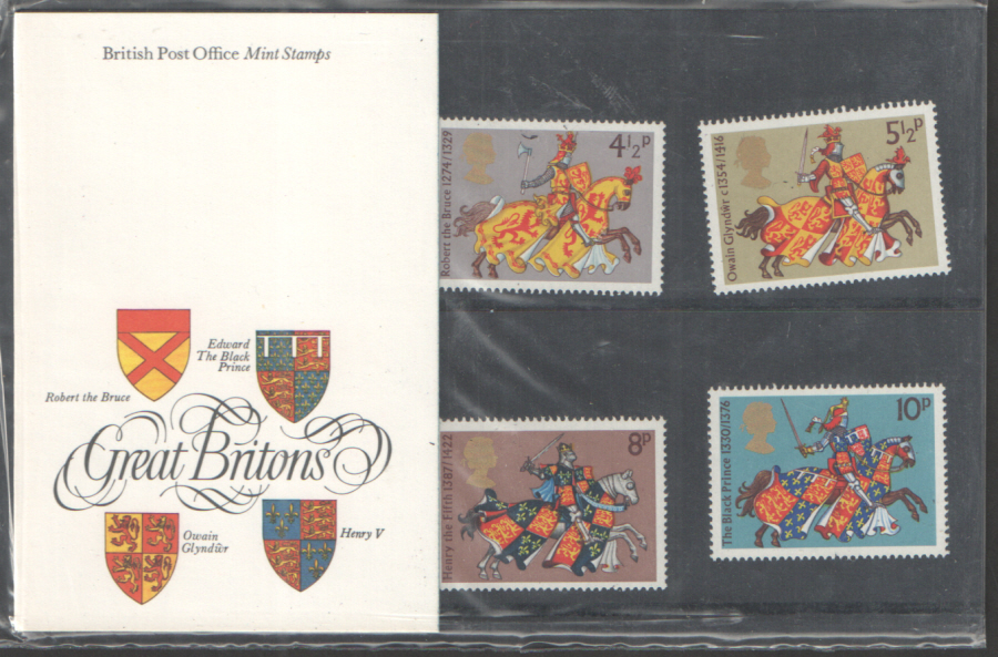 1974 Medieval Warriors Type B - White Card Royal Mail Presentation Pack 65